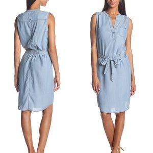 Jag Abra chambray lyocel sleeveless tie dress